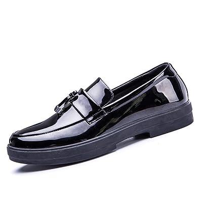 Femme brevet confortables chaussures en cuir NOIR Ville