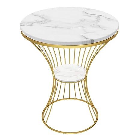 Amazon.com: Mesa de café de mármol para sofá lateral ...