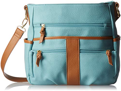 Bueno of California Faux Leather Grained Pebble Cross-Body, Blue