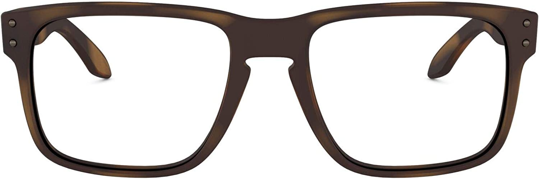 Oakley Men's OX8156 Holbrook RX Square Prescription Eyeglass Frames, Matte Brown Tortoise/Demo Lens, 54 mm