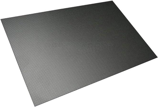 CFK Platte 0,3mm hochglanz 500 mm x 400 mm Kohlefaser Carbonplatte beidseitig