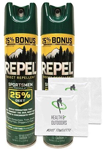 (Repel Sportsmen Formula 25 Percent DEET, Insect Repellent Aerosol BONUS, 8.125 oz - 2 Count)