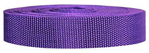 Strapworks Heavyweight Polypropylene Climbing Webbing, Purple, 1