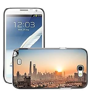 Hot Style Cell Phone PC Hard Case Cover // M00169039 Shanghai Tall Buildings Lu Jia Zui // Samsung Galaxy Note 2 II N7100