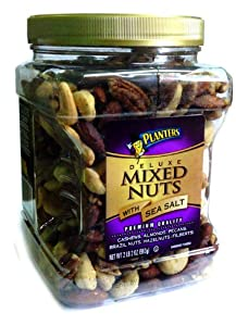 Planters Deluxe Mixed Nuts with Sea Salt Canister, 12.75 Ounce by Planters