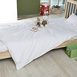 ClassicFabric Kids Duvet Cover 100% cotton down/feather proof White