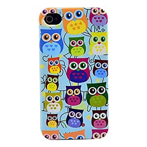 Cute Owl Pattern Soft TPU IMD Case for iPhone 4/4S
