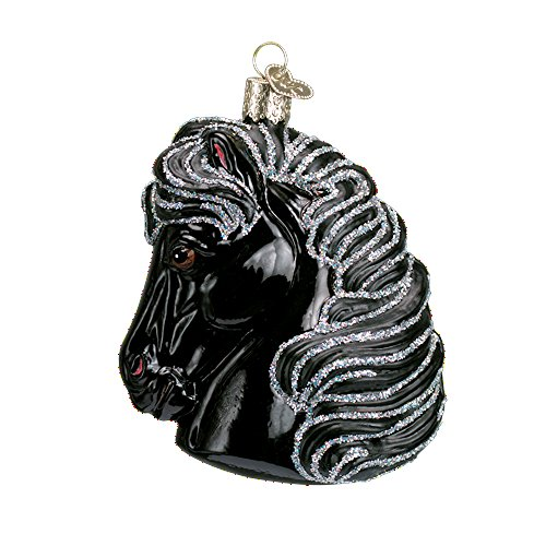 (Old World Christmas Horse Head Glass Blown Ornament (Black))
