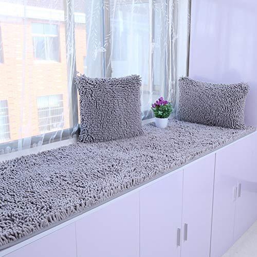 AMYDREAMSTORE Bay Window Cushion,Plush Bay Window Pad Sill Pad Tatami Floor Mat Cushion Padded Balcony Cushion Pad Anti-ski Sofa Cushioning-l 40x200cm(16x79inch) (Sofa Bay Window)