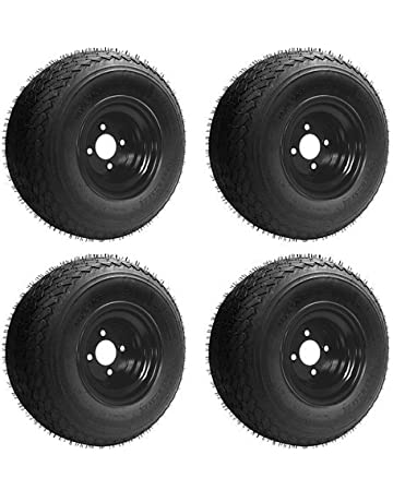 Slasher 18x8.50-8 GTX OEM Golf Cart Wheels and Golf Cart Tires Combo