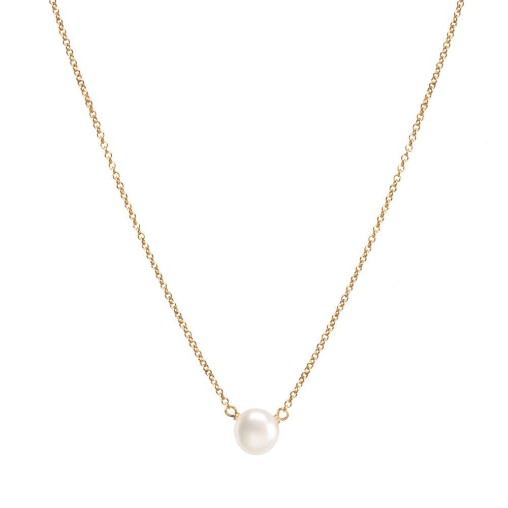 Dogeared Gold Filled Pearls of Strength Small Freshwater Cultured 16 with 2 Ext. Necklace Dogeared Jewels & Gifts PG1164P