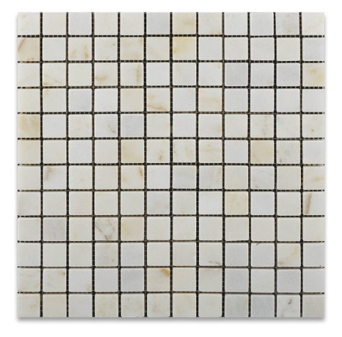 Afyon Sugar / Afyon Gold 1X1 Marble Tumbled Mosaic Tile