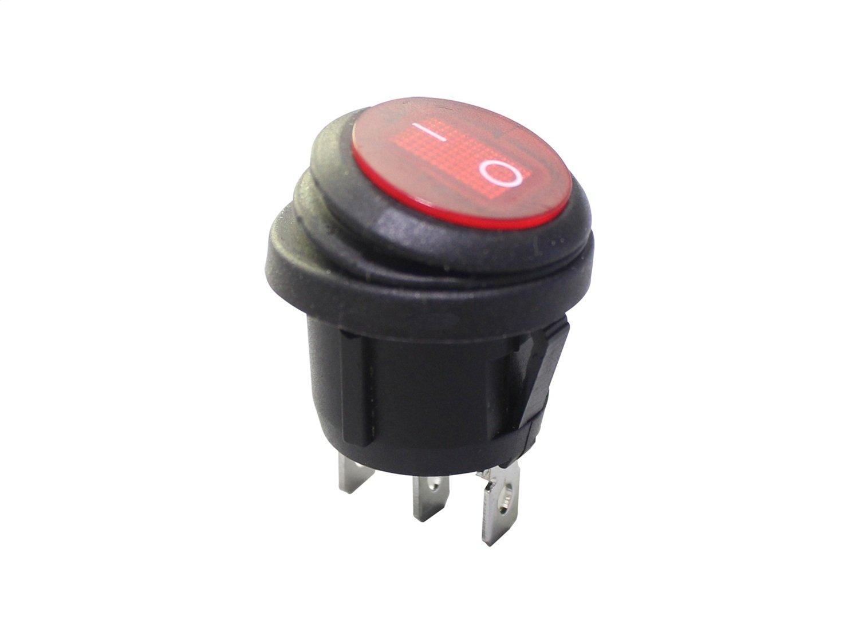 KC Hilites 3113 Illuminated LED Rocker Switch Red 10 Amp Illuminated LED  Rocker Switch