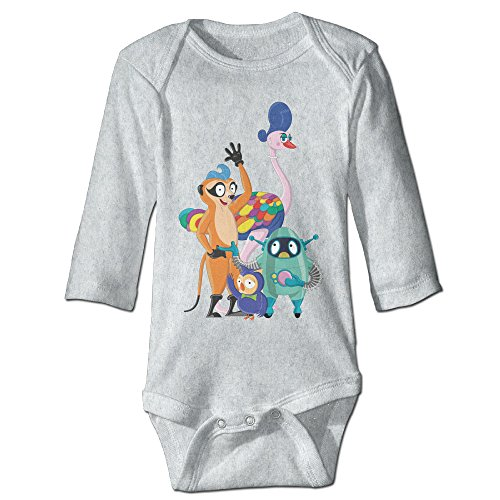 Alexx Hardal The Meerkat Newborn Jumpsuit Bodysuit Long-sleeve Romper Ash