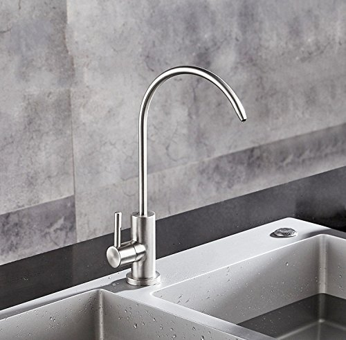 Dhpz Kitchen Faucet 304 Stainless Steel Water Purifier Net Home Straight Drink Lead-Free