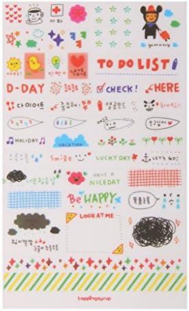 12シート カレンダー 日記帳 スクラップブック 装飾 ステッカー 可愛い