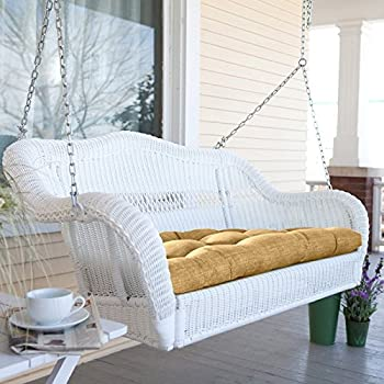 Coral Coast Casco Bay Resin Wicker Porch Swing with Optional Cushion No Cushion - CWR018-1