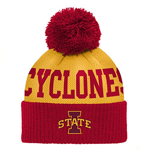 Gen 2 NCAA Iowa State Cyclones Infant Jacquard Cuffed Pom Hat, Infant One Size, Red