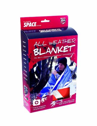 Grabber - The Original Space Brand All Weather Blanket - Orange (5' x 7')