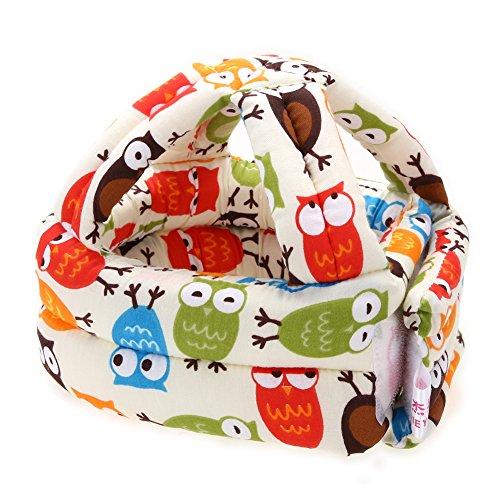 Baby Adjustable Warm Cap No Bumps Safety Helmet Headguard Hats (S) - 1