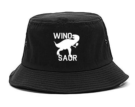 Amazon.com  Wino Saur Winosaur Dinosaur Bucket Hat Black  Clothing afcb39168fd