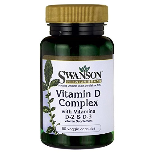 Swanson Vitamin D Complex with Vitamins D-2 & D-3 60 Veg Capsules
