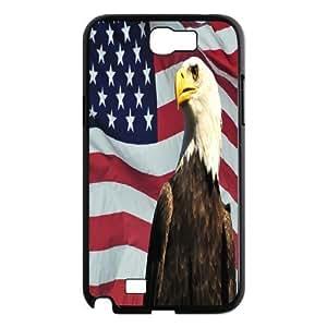 LZHCASE Diy Design Back Case American Flag for Samsung Galaxy Note 2 N7100 [Pattern-1]