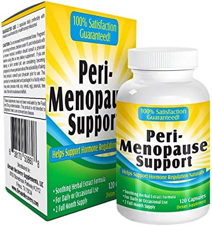 2-Month Perimenopause Support Supplement - Relief Formula - Vitamins - Natural Perimenopause Supplements - Pills - Complex - 120 Capsules