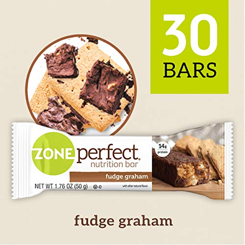 ZonePerfect Nutrition Snack Bars, Fudge Graham, 1.76 oz, (30 Count) (Medium Finish Caramel)