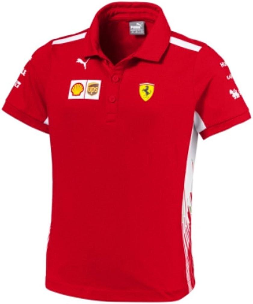 Scuderia Ferrari F1 Racing SF Team Puma Niños Polo Camisa Rojo Oficial 2018: Amazon.es: Ropa y accesorios