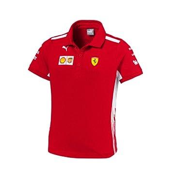 e074d73b5c Ferrari Scuderia F1 Racing SF Team Puma Niños Polo Camisa Rojo Oficial  2018  Amazon.es  Deportes y aire libre
