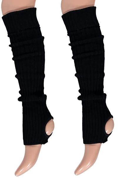 krautwear® Mujer Chica Ballet – Calentadores con agujero en el talón (calentadores de ballet Sirven legwarmer Mangas aprox. 55 cm 1980er años 80 años ...