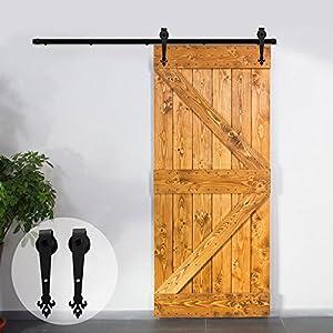 Superieur CCJH Rustic Black Sliding Barn Wood Closet Door Interior Door Sliding Track  Hardware Kit (4FT For Single Door)