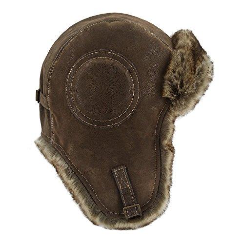 18163dfc8ee LETHMIK Winter Ski Aviator Hat Classic Unisex Pilot Hunting Trapper Hat NEW  Cracking Brown - Buy Online in UAE.
