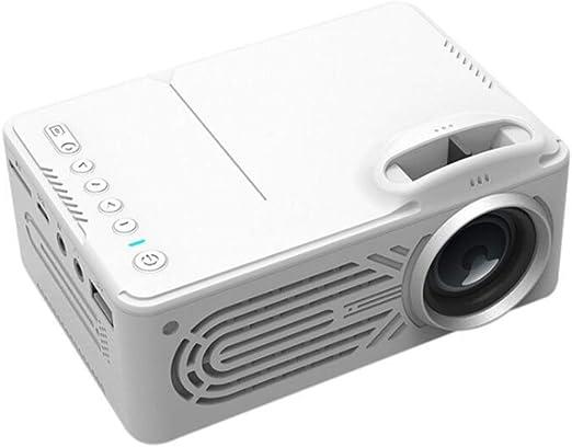 Viesky - Mini proyector portátil LED para uso doméstico, soporte ...