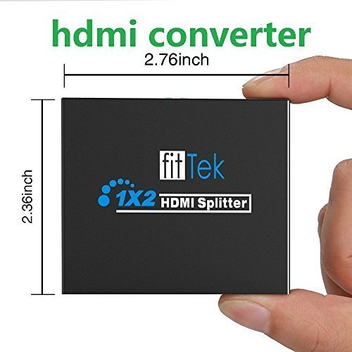 Hdmi Spliter, fitTek 1X2 Hdmi Splitter Hdmi Hub 2 Ports Hdmi