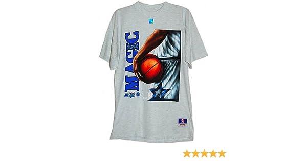 ORLANDO MAGIC gris RETRO enrojecer americano baloncesto camiseta - GRANDE - NBA OFICIAL SUPERIOR: Amazon.es: Deportes y aire libre