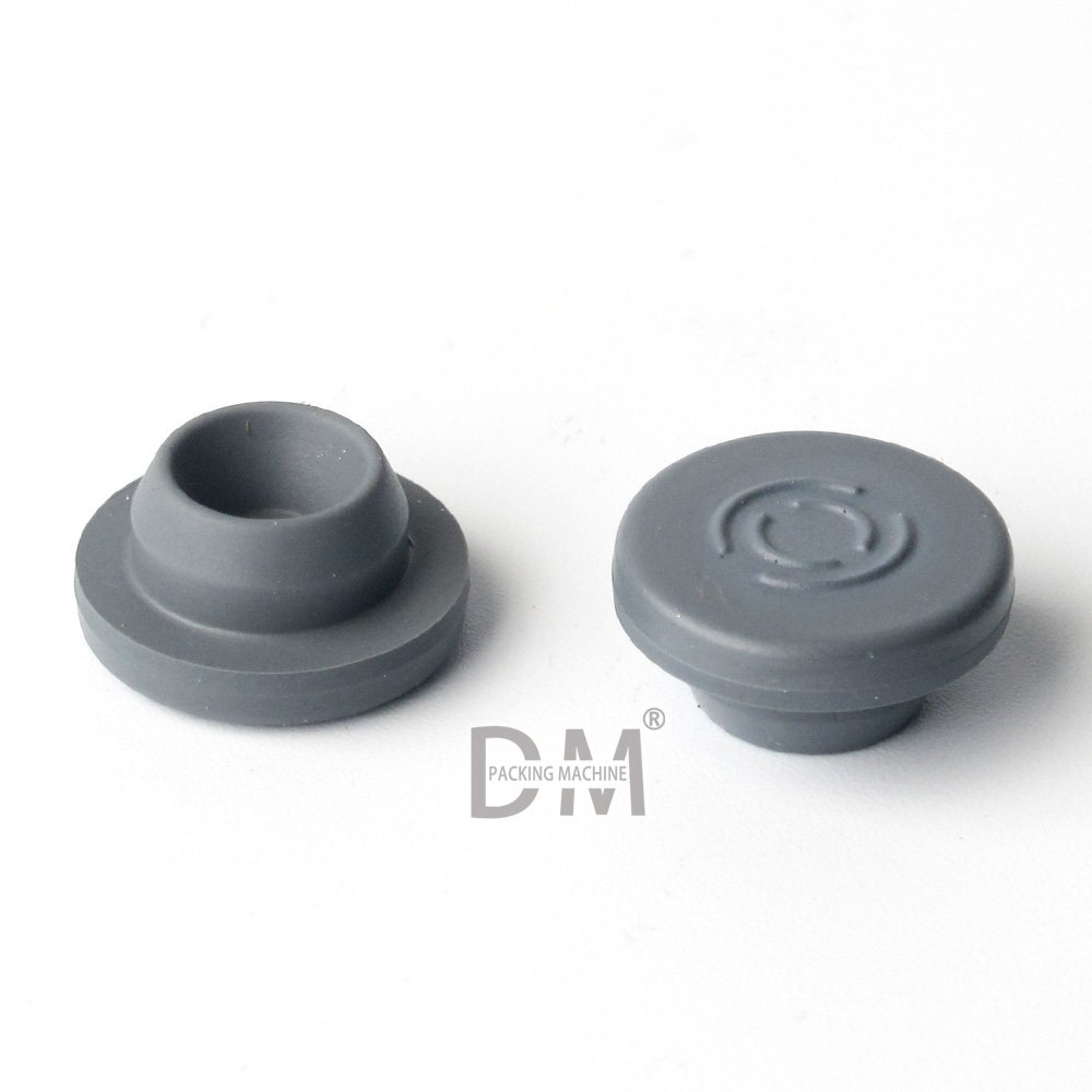 DM Rubber Stoppers 20mm for Glass Vials Gray Chlorobutyl (Case of 200)