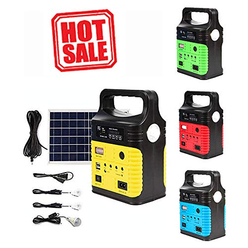 UPEOR Portable Solar Generator with Solar Panel,Solar Portable Generator Lithium Power Supply, Emergency Backup Power Supply with Flashlights, Solar Power Generator Kit,Camping Emergency Generator