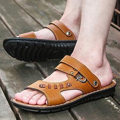 @Sandals Chaussons, L'Été, Coréen, Loisirs, Tongs, Men'S Anti Slip, Résistante À L'Usure Des Pieds, Les Chaussures De Plage, Toe.