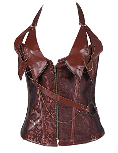 Ohyeah Mujer para mujer Steampunk corsé Vintage tiras bustier Top