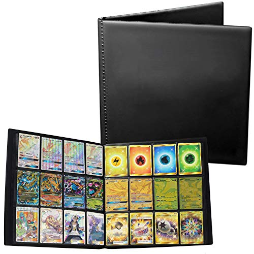 Baken Trading Binder for Standard MTG Pokemon Card Side Loading Perfect for Card Playset in Four X4 4 x 4 Quadrow