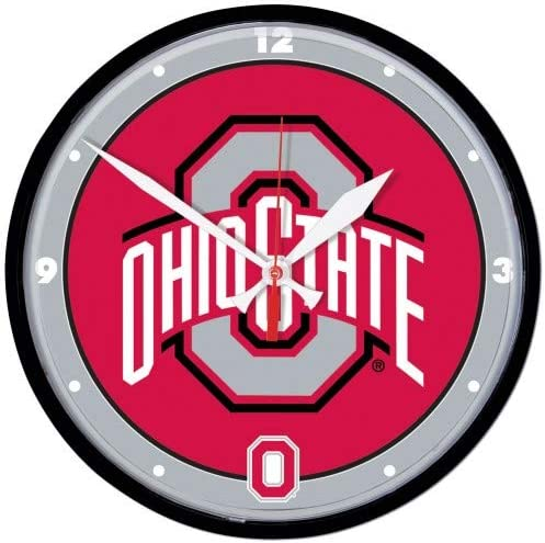 NCAA Ohio State Buckeyes Chrome Clock