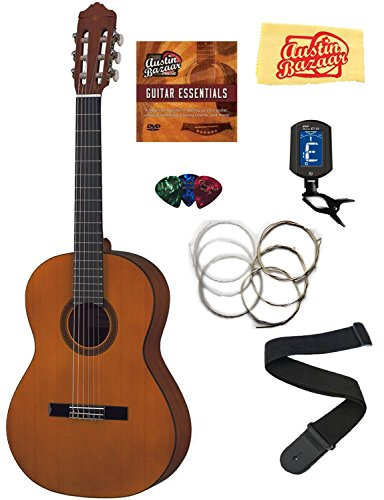 Yamaha CGS103A 3/4-Size Classical Guitar Bundle with Instructional DVD, Strings, Pick Card, and Polishing Cloth