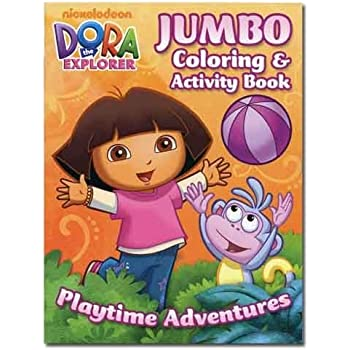 Amazon.com: Dora the Explorer Coloring Book Set (2 Coloring Books ...