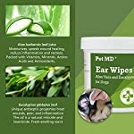 Pet MD - Dog Ear Cleaner Wipes - Otic Cleanser for Dogs to Stop Itching, Yeast and Mites with Aloe and Eucalyptus - 100 Count 10