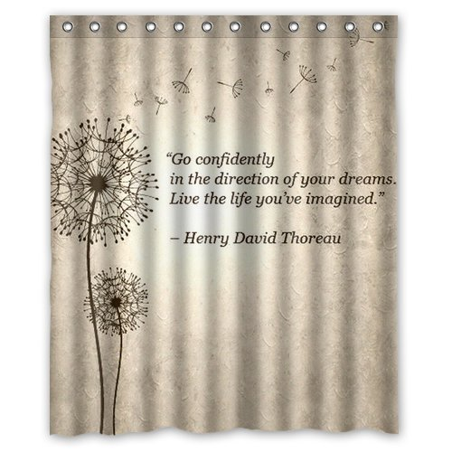 Special Designed Blowing Dandelion Quotes Make A Wishes Design Shower Curtains 60quot X 72quot