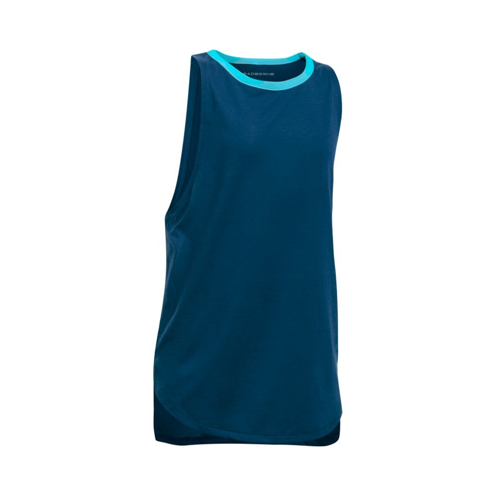 Under Armour Kids Girl's Threadborne Play Up Tank Top (Big Kids) Blackout Navy/Venetian Blue Tank Top