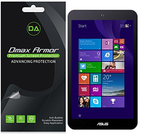 [3-Pack] Dmax Armor- Asus Vivotab 8 (M81C) Screen Protector High Definition Clear Shield - Lifetime Replacements Warranty- Retail Packaging