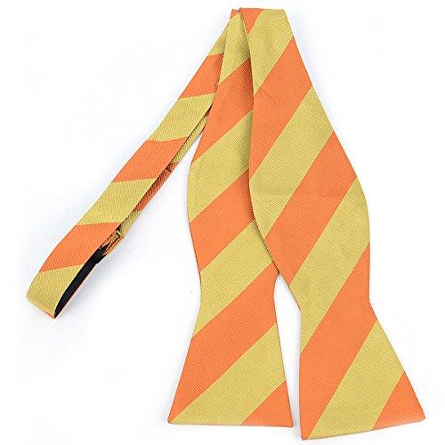 Stripe Freestyle Bow Tie (3 Pieces Bowart Stripes Freestyle College Silk Bow Tie)